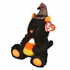 TY/Beanie Babies - Frightful The Halloween Cat With Candy Corn Borders Exclusive