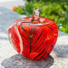 Murano Glass Handmade Red Apple Paperweight Unique Collectible Christmas Gift