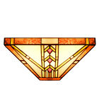 Tiffany Style 12 Lampshade Wall Sconce Wall Light Stained Glass w 1 Light