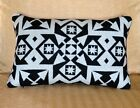 Wool Lumbar Pillow Cover Black and White Native decor contemporary upscale 12x18