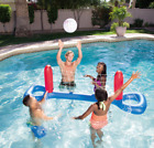 Inflatable Volleyball Net Kit Swimming Pool Floating Ball Set Float Raft Play