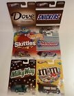 2013 HOT WHEELS POP CULTURE MARS CANDY MM SNICKERS SKITTLES DOVE SET OF 6