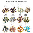 Mini All Birth Stones Natural Rough Stone Gold Plated Raw Tiny Charms Connectors