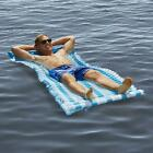 Go Anywhere Floating Mat and Lounge with Inflatable Pillow Pool Drifting Island