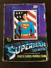 1978 Topps Superman The Movie Trading Cards Box 32 Packs (missing 4 packs)