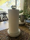 Mud Pie Glass Knob and Marble Paper Towel Holder Doorknob Collection White Metal