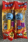 Sad Funky Faces Pez Lot of 2, Blue Heads Yellow/Red Stems Hungary SEALED