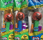 Mischievous Funky Faces Pez LOT of 3 Sealed Blue/Green Stems