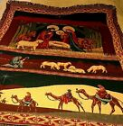 Gorgeous Nativity Christmas Afghan Tapestry Blanket Throw Guided By The Star