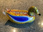 Vintage Finely Crafted Murano Italian Large Art Glass Duck 12 Wide x 6 High K