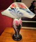 Charles Lotton Fuchsia Multi Flora Lamp Signed and Dated 1984