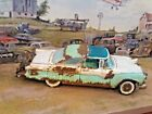118 Diecast Custom Weathered  Rusted Seafoam Green 1955 Ford Crown Victoria