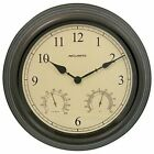 Large 15 Inch Acurite Wall Clock Indoor Outdoor Thermometer Humidity Pool Patio