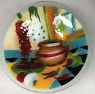 Peggy Karr southwestern fused glass serving bowl
