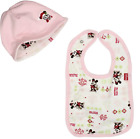 NEW Disney Baby Girls Minnie Mouse My First Christmas Reversible Cap & Bib, OS