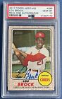 2017 Topps Heritage Lou Brock #LBR Real One Auto Autograph, PSA 10 Gem Mint!