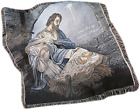 COME LET US ADORE HIM WOVEN TAPESTRY NATIVITY THROW BLANKET