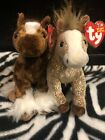 Ty Original Beanie Babies Filly & Hoofer Horses Clydsdale Show Pony Glitter