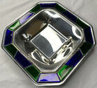 Zepter Progetto Laguna Murano Glass Large Serving Centerpiece Stainless Steel