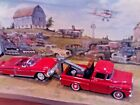 124 Scale Diecast 2 pcSet1958 Chevy Apache Tow Truck  58 Chevy Impala Conv