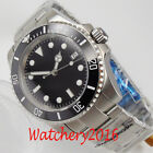 40mm NH35 Automatic Movement Mens Watch Sterile Black Dial Sapphire Glass Date