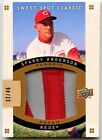 SPARKY ANDERSON 2009 UPPER DECK SWEET SPOT GAME USED JUMBO PATCH SP 32 46 REDS