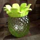 Bath And Body Works Glass PineappleLuminary Single wick Candle Holder Green