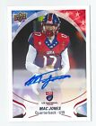 2017 UPPER DECK USA FOOTBALL MAC JONES AUTO AUTOGRAPH RC ROOKIE SIGNED ALABAMA