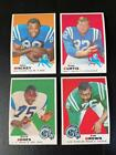 1969 TOPPS FOOTBALL LOT OF 22 CARDS EX-EXMT CONDITION WITH HOFERS (+2 1970)