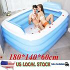 Durable Inflatable Swimming Pool Family Kids Adults Garden Paddling Pools Toys
