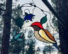 Stained Glass Window Panel Hummingbird