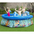 Kids Inflatable Pool Swimming Above Ground Outdoor Backyard Summer Water Play