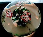 Murano Glass flowers Paperweight approx 35