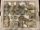 1982 VINTAGE ENESCO PRECIOUS MOMENTS 11 Piece MINIATURE NATIVITY SET E2395
