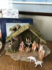 NEW Fontanini Heirloom Nativity set Roman 5 Set with Creche 8 pc 54564 In Box