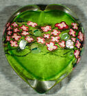 Shawn Messenger Cherry Blossom Heart Paperweight Signed Dated Addl Materials