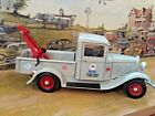 118 Scale Die Cast Custom MOBIL Gray 1934 Ford Tow Truck Wrecker