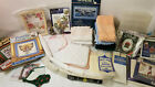 Large Lot of Cross Stitch Books Kits Book Marks Hand Towels 14c Fabric