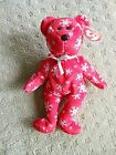 TY Beanie Babies Snowbelles the Red Bear ... w/tags + protector