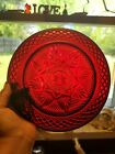 11 Ruby Red Glass Salad Plates Arcoroc France