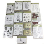 Stampin Up Lot of 102 Stamps New Retired Mounted and Unmounted Stamp Sets