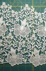 Vintage White Venice Lace Floral Trim Border Edging 85 inches wide 9 yards