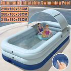 Large Automatic Inflatable Swimming Pool  Shade Kids Adult Family Pools Outdoor