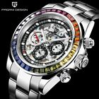 Pagani Design Sapphire Glass Skeleton Automatic Mechanical Stainless Steel Watch