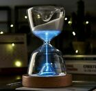 Luminous Remote Control Glass Hourglass 15 Minutes Time Timer Office Desk Gift