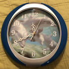 Dolphins Wall Clock With 4 Ocean Sounds Tested Works Great