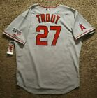 2014 Authentic Mike Trout Postseason Jersey 54 - Los Angeles Angels