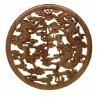 Floral Woodcarving Decal European Style Rubber Wood Carved Corner Applique Decor
