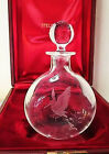 NEW in RED BOX STEUBEN Glass LTD EDITION WOODCOCK DECANTER J Houston eagle DAD