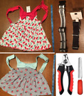 LOT dog clothes Small medium YORKIE CHIHUAHUA OUTFIT 2 dresses and 2 collars